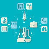Medical illustration — Stock Vector