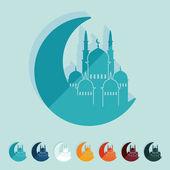 清真寺的插图 — 图库矢量图片