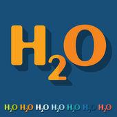 H2O formula — Vector de stock