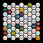 H2o formel — Stockvektor