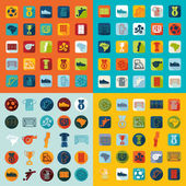 Football, soccer icons — Stock Vector