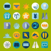 Tourism icons — Stock Vector