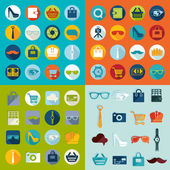 Iconos de la moda — Vector de stock