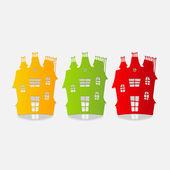 House illustration — Stock Vector