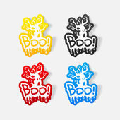 Boo illustration — Stock Vector