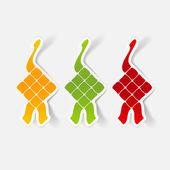 Ketupat illustration — Stock Vector
