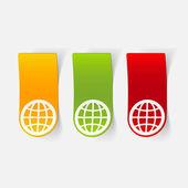 Illustrazione del globo — Vettoriale Stock