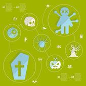 Halloween infographic — Stockvektor