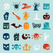 Символы Хэллоуина — Cтоковый вектор