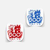 Boo design element — Stock Vector