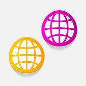 Globe design element — Stock Vector