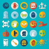 Halloween icons — Vector de stock