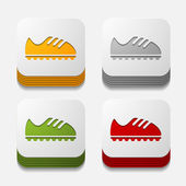 Sneakers button — Stock Vector