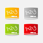 Elemento de diseño en tablero — Vector de stock