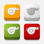 Whistle button — Stock Vector