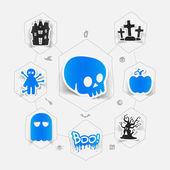Halloween-infographik — Stockvektor
