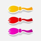 Broom design element — Stock Vector