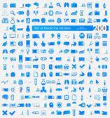 Medicine stickers — Stockvektor