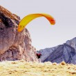 Stock Photo: Paragliding