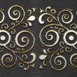 Metal texture with classic ornament — Stock Photo