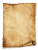 Old paper scroll isolated on white — Stockfoto