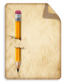 Old paper and pencil — Stock Photo
