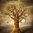 Stockfoto: Magic tree with golden apples.