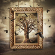Magic tree with birds in frame — Stock Photo #40638647