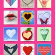 Hearts. Wedding and valentine poster, postcard and other design — Stock Photo #43995315