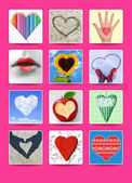 Hearts. Wedding and valentine poster, postcard and other design — Stock Photo