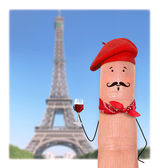 Frenchman in red beret — Stock Photo