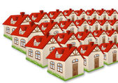 Group of many houses — Stock Photo