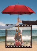 Family life insurance, child care.  — Stock Photo