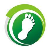 Podiatrist green vector logo — Stock Vector