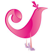Logo pink bird — Stock Photo