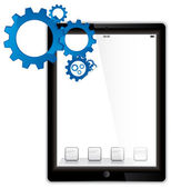 Tablet computer mechanisms — Stock Photo