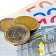 Euro coins and banknotes — Stock Photo #21937093