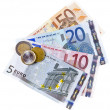 Euro coins and banknotes — Stock Photo #21957371