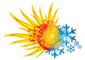 Logotipo de caliente y frío — Foto de Stock
