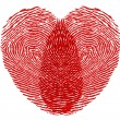 图库照片: Heart fingerprint