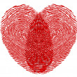 Heart fingerprint — Stock Photo