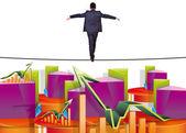 Between crisis and success — Stock Photo