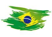 Brasilien fahne stilisierte — Stockvektor