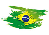 Stilize brezilya bayrağı — Stok Vektör