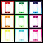 Smartphone de color — Vector de stock