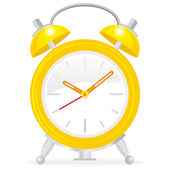 Yellow alarm clock — Stock Vector