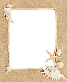 Frame motif sea — Stock Photo