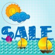 Special summer sale - Stock Vector