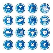 Set trading icons — Stock Vector