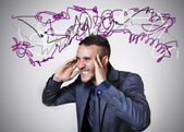 Stressed man — Stock Photo